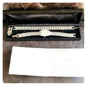 Nolan Miller ladies crystal watch and bracelet set
